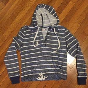 Striped Sweatshirt Juniors XL or Womens M